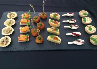 assorted canapes 6
