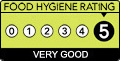 Food Hygiene Rating for kitchen of kent